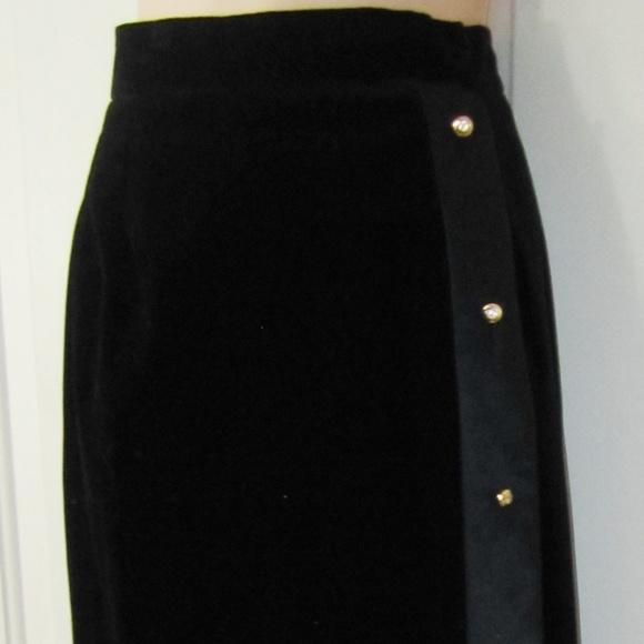a3791e7ec36c Guy Laroche Skirts | Vintage Black Velvet Maxi Skirt 4210 | Poshmark